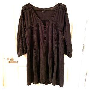Black Mini Dress - Cotton - American Eagle - Small